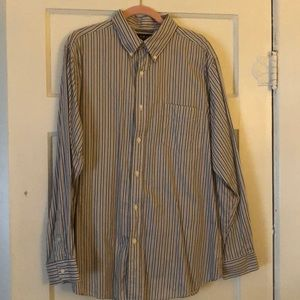 Men's Chaps Button Down Collared Shirt